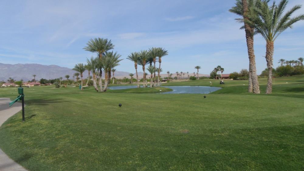 Water hazard in the desert