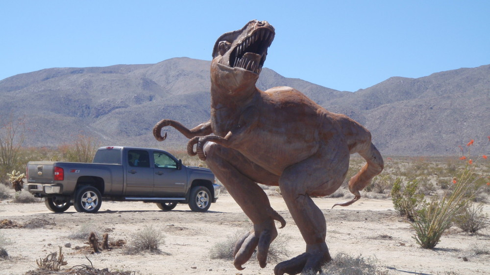 Raptor with our truck in the background