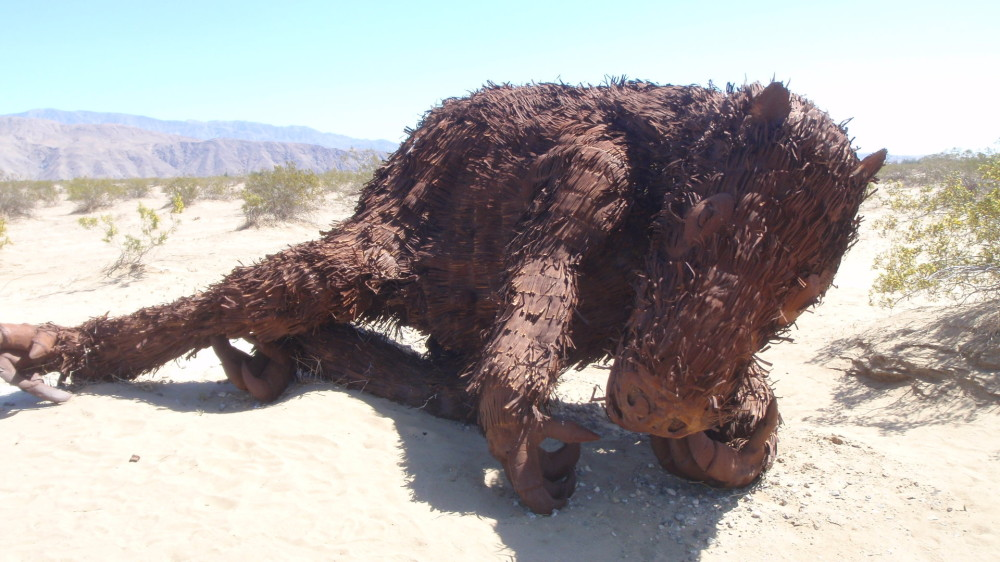 A giant sloth - down for the count