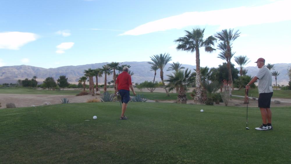 Golfing with neighbour Robert in Borrego Springs
