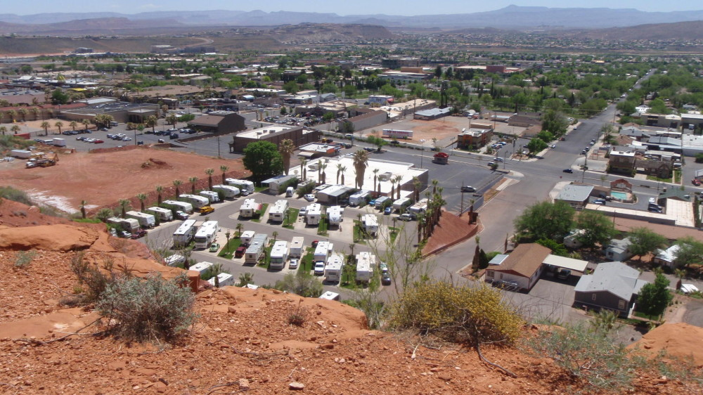 View of Hillside RV Park in St. George - everything in St. George has a view!