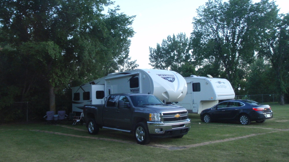 Camping in the heart of Saskatoon.  Great location and quiet surroundings.