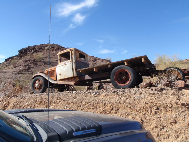 Old truck used for delivering beer and burgers to the Desert Bar - just kidding!
