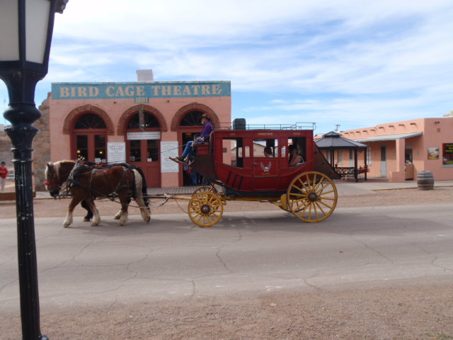 You can walk around the tiny town or you can experience the old west.....