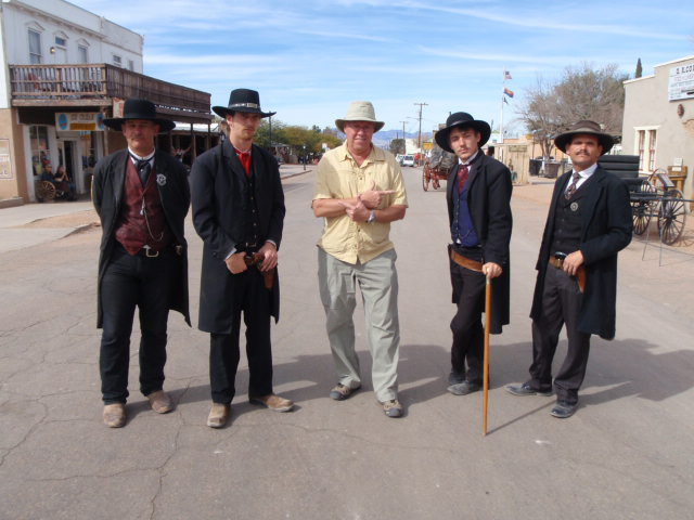 "Posing with the Earps.  ""Badges, what badges?  We don't need no stinking badges!""  Oh, wrong movie...sorry."