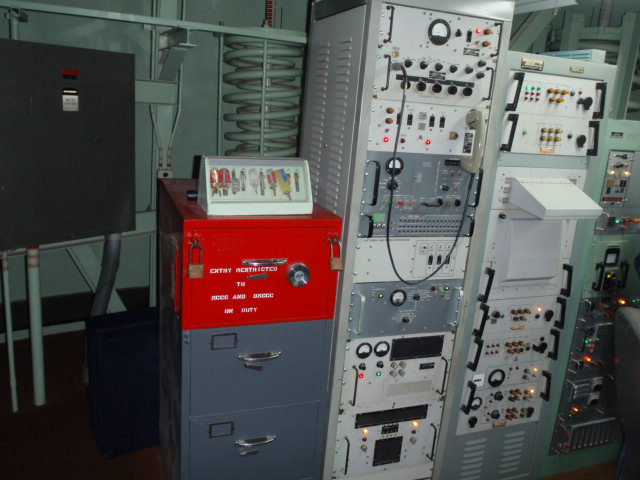 Red safe drawer is locked and contains various launch orders.  Operators wouldn't have know their target by name - only scenario number and launch time.