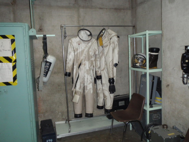 Space suits used to service the missile when operational.  Fuel was very toxic.