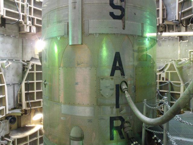 Inside the silo.