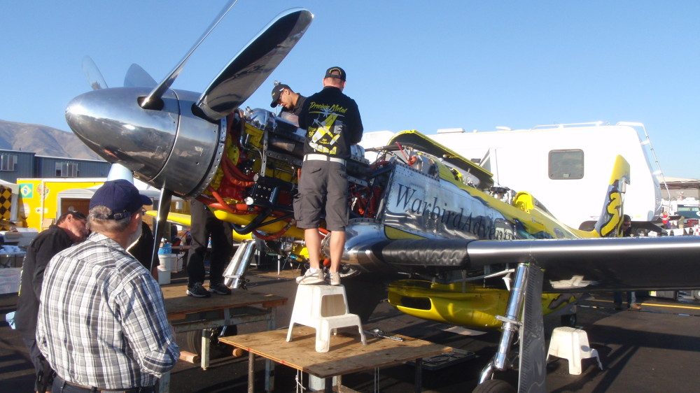 Precious Metal - modified P51 with counter rotating props - yes, this is an expensive sport!