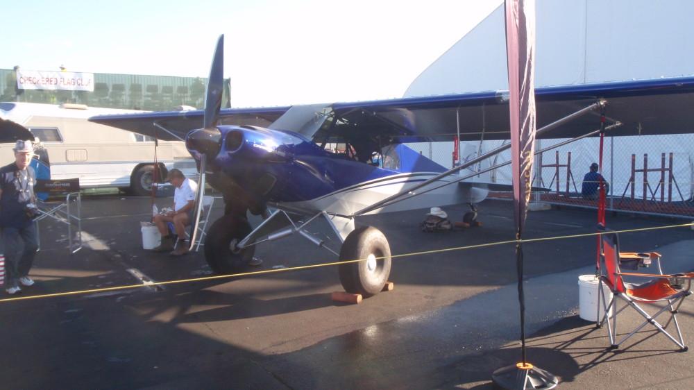 Piper Cub with big wheels for rough terrain landing