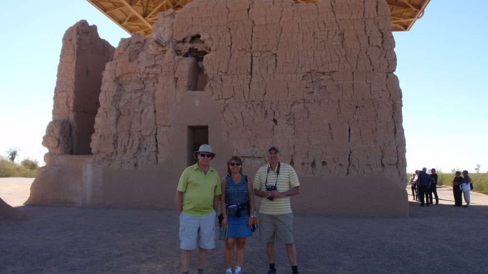Part of the exploration team, Bill, Sheryl and Doug.  Kathy takes the photo.