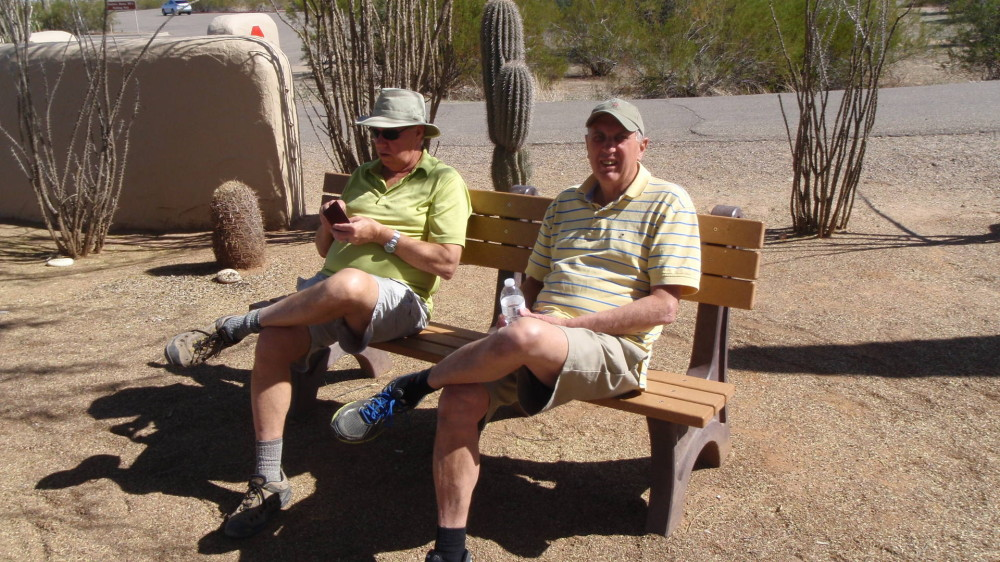 Doug and cousin Bill discuss the finer details of archaeological theory or...........what time Margaritas will be served........