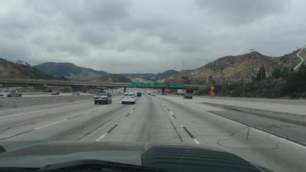 LA traffic!  Pretty tame I'm sure as we skirted the city.